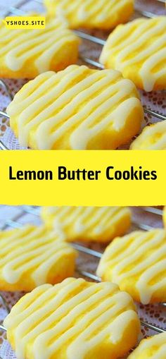 Ingredients: For the Cookies: 1 cup & 2 tablespoons All-Purpose Flour . Lemon Desserts, Lemon Recipes, Cookie Desserts, Baking Recipes, Sweet Recipes, Cookie Recipes, Delicious Desserts, Dessert Recipes, Yummy Food