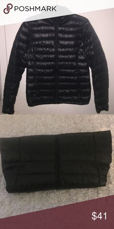 Uniqlo Down Jacket (puffer!) LIKE NEW CONDITION - worn once! Ultra lightweight and easy to pack since it can be folded to take up such a little amount of space (as seen in 2nd picture) Uniqlo Jackets & Coats Puffers