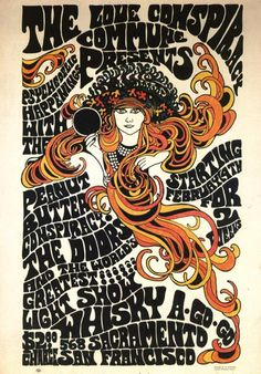 LA in the 60's.  Music poster for the Doors at the Whiskey.