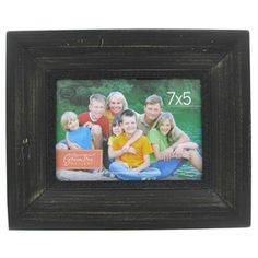 7 x 5 black wide wood frame with decorative edge - Wooden Frames Hobby Lobby
