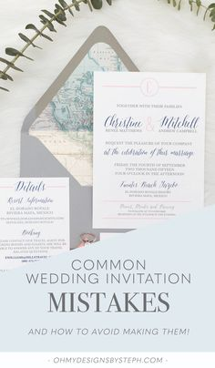 Don't make these wedding invitation mistakes!