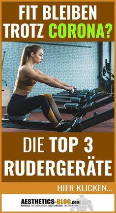 Mit einem #Rudergerät kannst Du Zuhause Deinen gesamten Körper effektiv #trainieren! Die Top 3 #Rudergeräte, die wir empfehlen, findest Du im Blog-Beitrag! #Fitness #Rudern #Rückentraining #Workout #Zuhausetrainieren