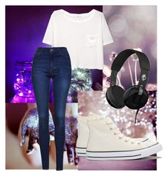 """drilha drilha"" by izzy-123 ❤ liked on Polyvore featuring MANGO, Topshop, Converse and Skullcandy"