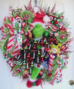 the Grinch wreath for @Mary Beth Snyder