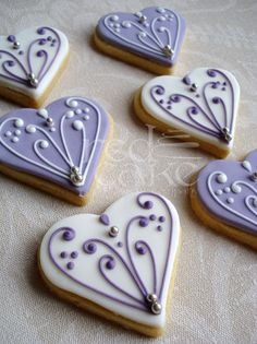 Heart Wedding Favour Cookies