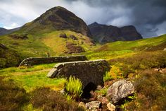Glen Coe, old road bridge. West Highland Way. North West Scotland.