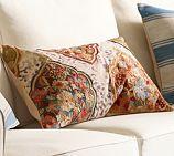Rumi Applique Embroidered Lumbar Pillow Cover
