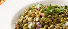 Salada de lentilhas - Lucilia Diniz