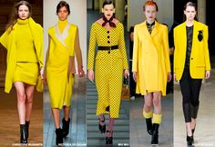 Top 10 Fashion Color Trends 2015 image in fashion clothes category 2015 Fashion Trends, 2014 Trends, Fashion News, Fashion Outfits, Womens Fashion, Fashion Clothes, Runway Fashion, Yellow Fashion, Fashion Colours