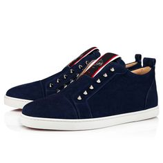S Signature, Red Sole, Blue Suede, Casual Shoes, Dark Blue, Christian Louboutin, Boutique, Sneakers, Model