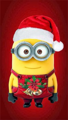 Minion vestido de Navidad.