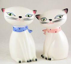 Vintage mid century Holt Howard Cozy Kittens salt pepper shakers 1958 - Salt & Pepper Shakers