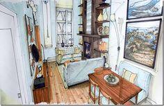 brandon render 2/ Sketch by Candice Olson