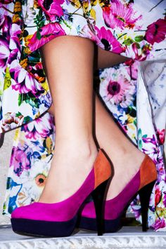 Colour in Spring. Shoe shot