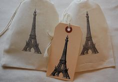 These muslin pouches make adorable gift bags - we are using them for our Parisian Themed Events next month!