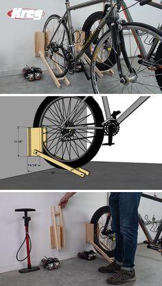 Tire Storage Rack, Diy Storage Shed, Bicycle Storage, Garage Storage, Tire Rack, Diy Bike Rack, Bike Hanger, Wood Bike Rack, Rack Velo