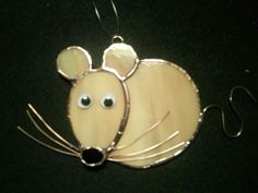 Stained glass and copper wire mouse