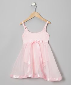 Take a look at this Light Pink Babydoll Skirted Leotard - Toddler & Girls on zulily today!