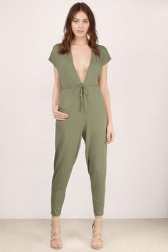 The This Is It Tie Dolman Jumpsuit is simply everything. It's simple, chic, and can be easily dressed up or down. It's made from a soft jersey fabric and features a waist tie and pockets. Wear with trainers for a laid back look.  Get 50% off your order when you join Tobi.com