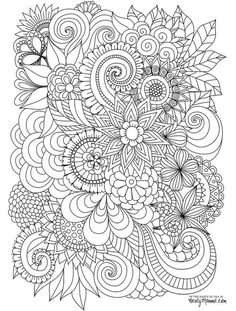 Flowers Abstract Coloring pages colouring adult detailed advanced printable… Abstract Coloring Pages, Cute Coloring Pages, Flower Coloring Pages, Mandala Coloring Pages, Coloring Pages To Print, Free Coloring, Coloring Books, Coloring Sheets, Printable Adult Coloring Pages