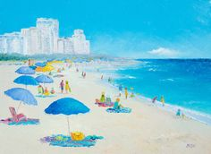 MIAMI BEACH art, canvas art, Florida, beach decor, Beach painting, seascape…