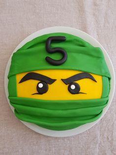 Toddler Birthday Cakes, 6th Birthday Cakes, Ninja Birthday Parties, Superhero Birthday Cake, Homemade Birthday Cakes, Lego Ninjago Cake, Ninjago Party, Lego Cake, Cake Minecraft