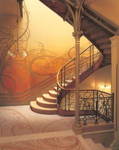 Staircase in art nouveau... danielmaidman.blogspot.com