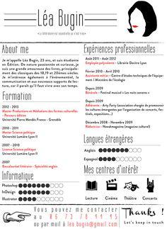 CV original graphique Master édition