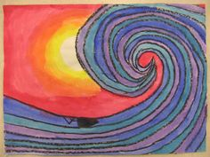 Miss young& art room: warm and cool colors Classroom Art Projects, Easy Art Projects, School Art Projects, Art Classroom, Color Art Lessons, First Grade Art, Second Grade, Warm And Cool Colors, Young Art