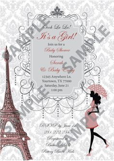 Passport To Paris Baby Shower Invitation By Printablecandee