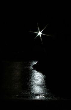 Night. Black and White.