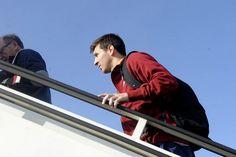 Messi, subiendo al avión
