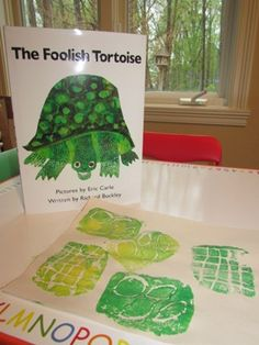 Eric Carle's The Foolish Tortoise - great turtle ideas that provide lots of fine motor opportunities and process oriented activities