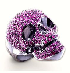 Pink Sapphire & Cabochon Amethyst Skull Ring. This weight had a lot of cool things