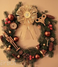 EPBOT: My Steampunk Christmas Wreath!