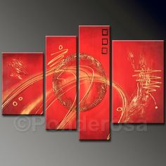 Red Circle inside the red - Direct Art Australia,  Price: $373.00,  Shipping: Free Shipping,  Size of Parts: 30cm x 100cm x 1 panel + 30cm x 75cm x 1 panel + 35cm x 65cm x 1 panel + 35cm x 50cm x 1 panel,  Total Size (W x H): 130cm x 100cm,  Delivery: 14 - 21 Days,  Framing: Framed & Ready to Hang!   http://www.directartaustralia.com.au/