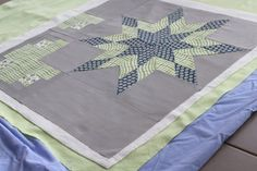 Learn how to baste a quilt with basting spray - much quicker and easier than traditional thread basting.