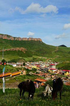 Langmusi monastery, Gansu, China