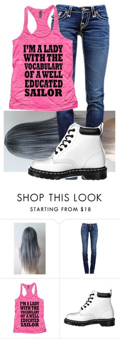 """Untitled #9260"" by onedirection-emblem3 ❤ liked on Polyvore featuring True Religion and Dr. Martens"