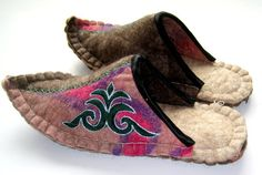 Felted Slippers7 by ARTLAND77 on Etsy