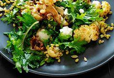 Cauliflower, freekah and goat's cheese salad recipe - 9Kitchen