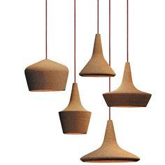 Cork pendants.