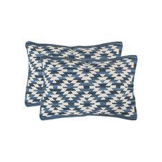 Safavieh Tribal 2-piece Oblong Throw Pillow Set, Blue