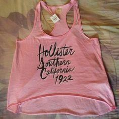 Hollister Hi-Lo Tank NWT. pink racerback hi-lo tank from Hollister. Hollister Tops Tank Tops