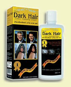 3 Pack Mano Dark Hair Color Restoring Cream for Men & Women 160 Ml Formulated to cover grey hair effectively in 5-10 minutes.. Dark hair shampoo hair color. For men & women. 3 x 160 ml.  #Mano #HealthAndBeauty