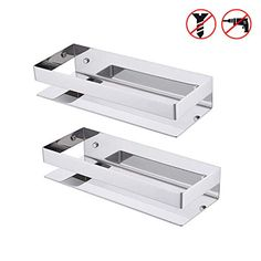 KES Shower Caddy Bathroom Shelf Basket Storage Stainless Steel Wall Mounted Brushed 2 Pack, BSC205S30A-2-P2: Amazon.co.uk: DIY & Tools Basket Storage, Basket Shelves, Bathroom Corner Shelf, Shower Basket, Wall Mount Rack, Shower Shelves, Hanging Organizer, Steel Wall, Diy Tools