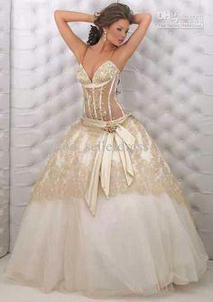 Gorgeous see through corset ball gown