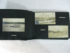 Offered @ Auction: June 4, 2017 @www.Rare-Era.com. Contact: info@Rare-Era.com. Part of a group of c.1919 photo albums including images of ships on the Hudson River.