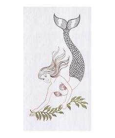 Look at this #zulilyfind! Mermaid Flour Sack Dish Towel - Set of Two #zulilyfinds