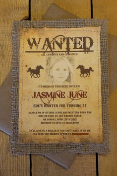 Personalized Rustic Western Themed Party by Cinnamonrays on Etsy, $4.25